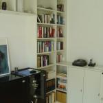 Wohnzimmer Regalwand mit Anbausideboard, Türen , Fachböden, Regalseiten 25 mm stark
