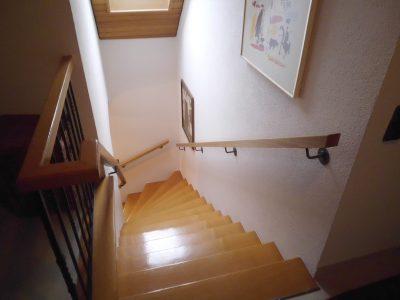 Treppe mit Setz- und Trittstufen